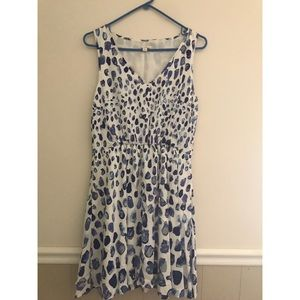 Blue & white Gap dress with pockets